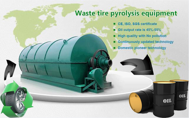 Waste tire pyrolysis equipment brings high profits