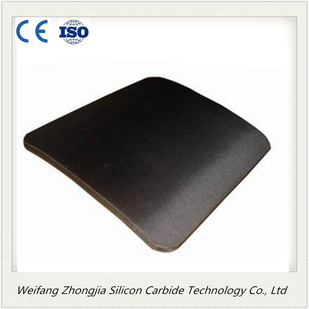 Sisic body armor plate with high hardness