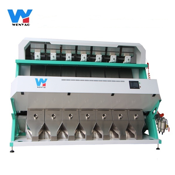 High Accuracy 7 chutes color sorter for plastic