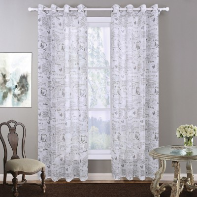 BBJ sheer curtain white decorative living room curtain for bed room