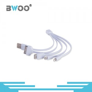 4 in 1 Multiple USB Charging cable Adapter Connector with Type C Lighting Micro USB Ports