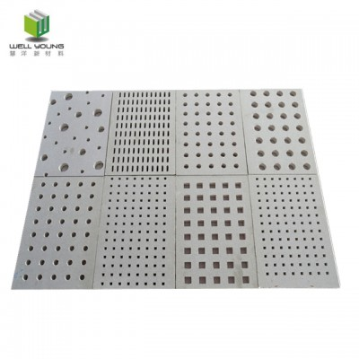 12mm thickness 3mm square hole sound damping gypsum board