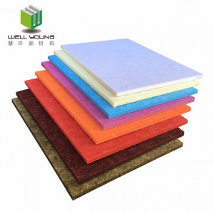 polyester fiber acoustic diffuser wall panel