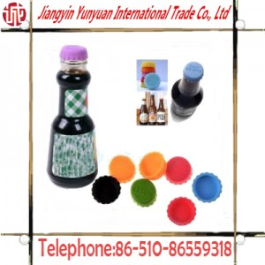 Fashionable 100% Food Grade Silicone Silicon Beer Bottle Cap