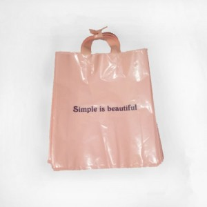Wholesale Custom Logo and Size Printing Reusable Plastic Shopping Bags with Die Cut Handle