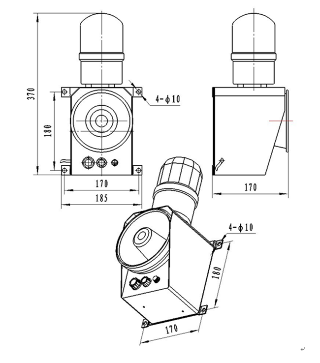 Voice Audible And Visual Alarm Type 11 9f