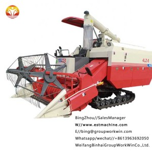 Chinese Promotion Price Full Feeding Rice Combine Harvester,4LZ-5A rice harvester