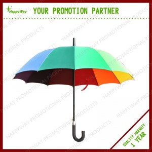 Colorful Silver Plasters Golf Umbrella Advertising Gifts, MOQ 100 PCS 0606009 One Year Quality Warranty