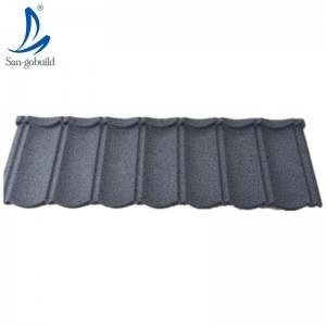 Nature sand coating aluminum-zinc steel plate stone coated metal roof tile factory price