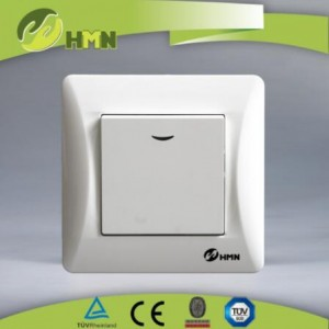 EU LED electric wall 1gang wall switch 220-250V for home