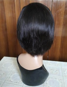13x4 lace front short side part human hair wig