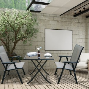 Modern Outdoor Folding chair set with coffee table for sale
