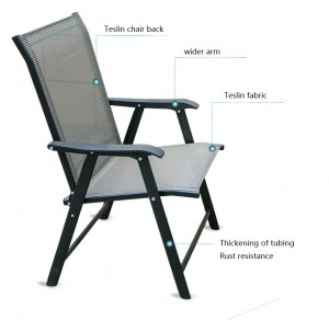 Factory Price Simple Design Modern Outdoor Folding chair set with coffee table
