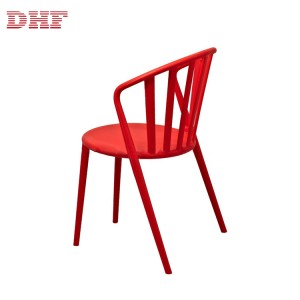 Custom Design Outdoor Chair Plastic Red Chairs