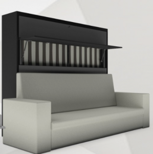 K72 Horizontal wall bed mechanism with Sofa 1500X2000