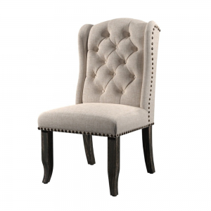 Dinzhi factory modern design linen Dinning room nail chair