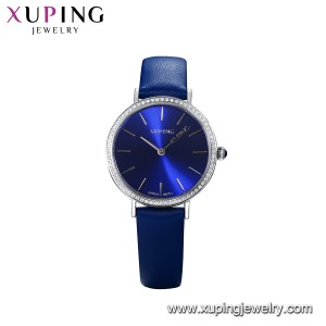 Fashion women accessories genuine leather wristwatch electronic movement quartz watch