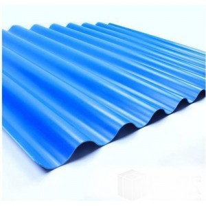 Anti Corrosion Insulation PVC Corrugated Roofing Sheet FG-720W