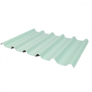 Light Weight PVC Corrugated Sheet ASA Plastic Roof Tiles For Warehouse FG-1030W