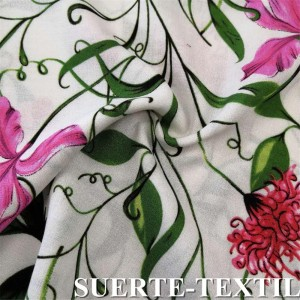 Shaoxing textile custom woven floral printed dyeable 100% rayon/viscose fabric