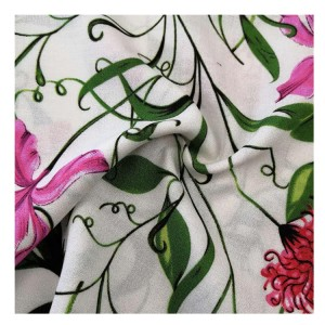 textile custom woven floral printed dyeable 100% rayon