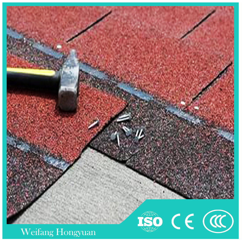 Flexible Roofing Material/ Blue Cheap Asphalt Roof Shingles Made in China