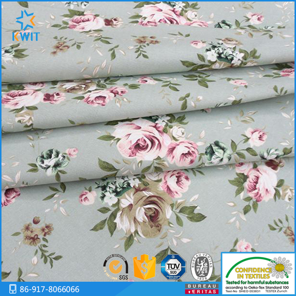 cotton printed home textiles fabric for bed sheets