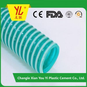 high quality ISO certificate no smell spiral large diameter plastic hose