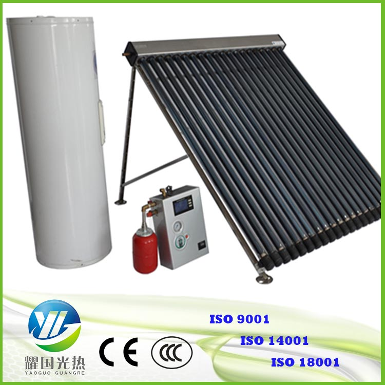 Hot sale 25 tubes flate solar collector with water tank and work station