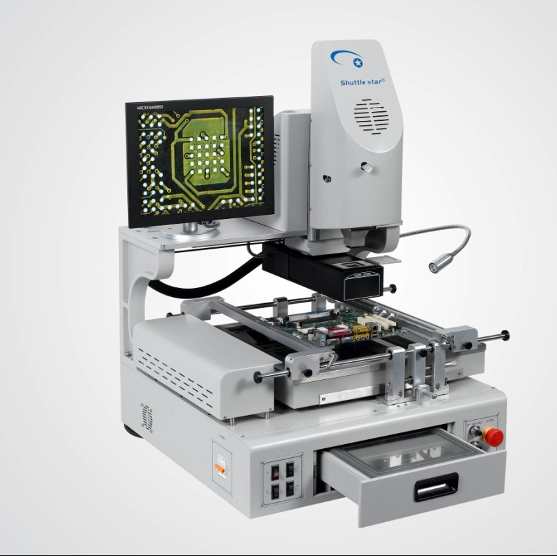 SV560A Automatic Industrial Computer Interfaced IR / Hot-Air BGA Rework Station with Vision + Auto Alignment Software Control + HD Alignment Camera