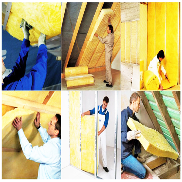 Thick glass wool insulation blanket with FSK Aluminum foil