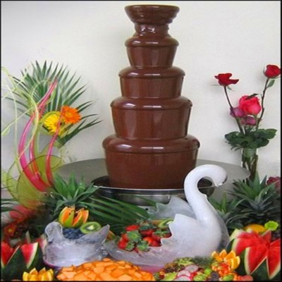 Electric 5 layers chocolate fountain making machine / 5 tiers chocolate fondue machine