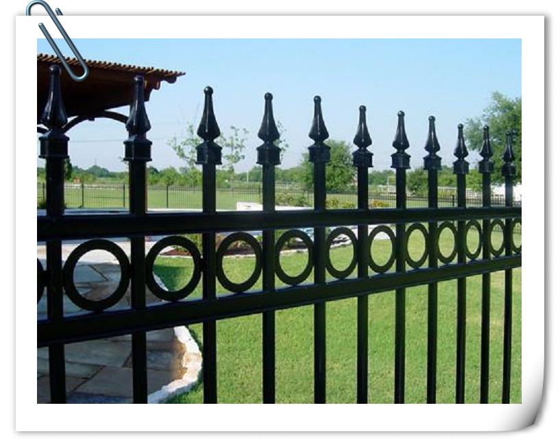 high quality outdoor Security Ornamental aluminum fence